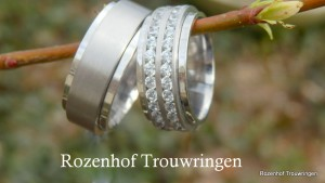 Bijzondere trouwringen in witgoud met diamanten